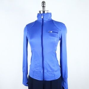Alo Yoga Track Jacket Bright Blue